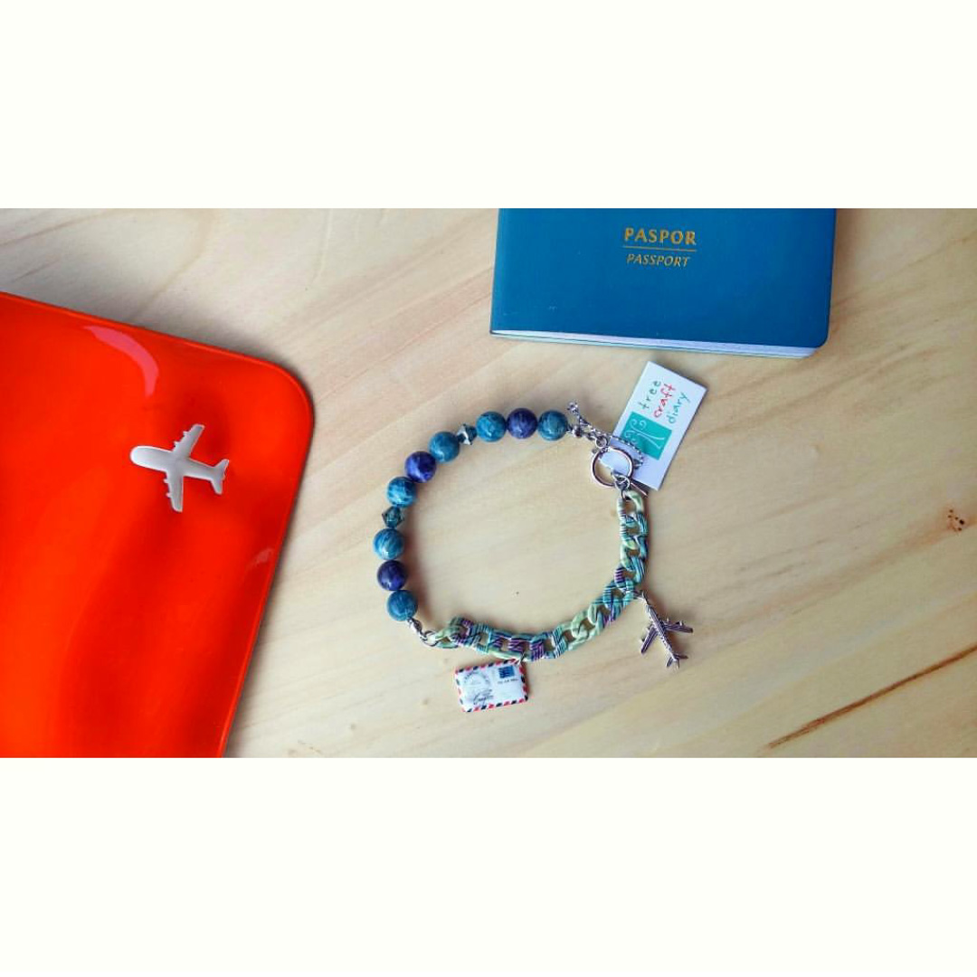Yeay I'm ready to travel with this bracelet... Thank you! -Sharon from Surabaya, Indonesia