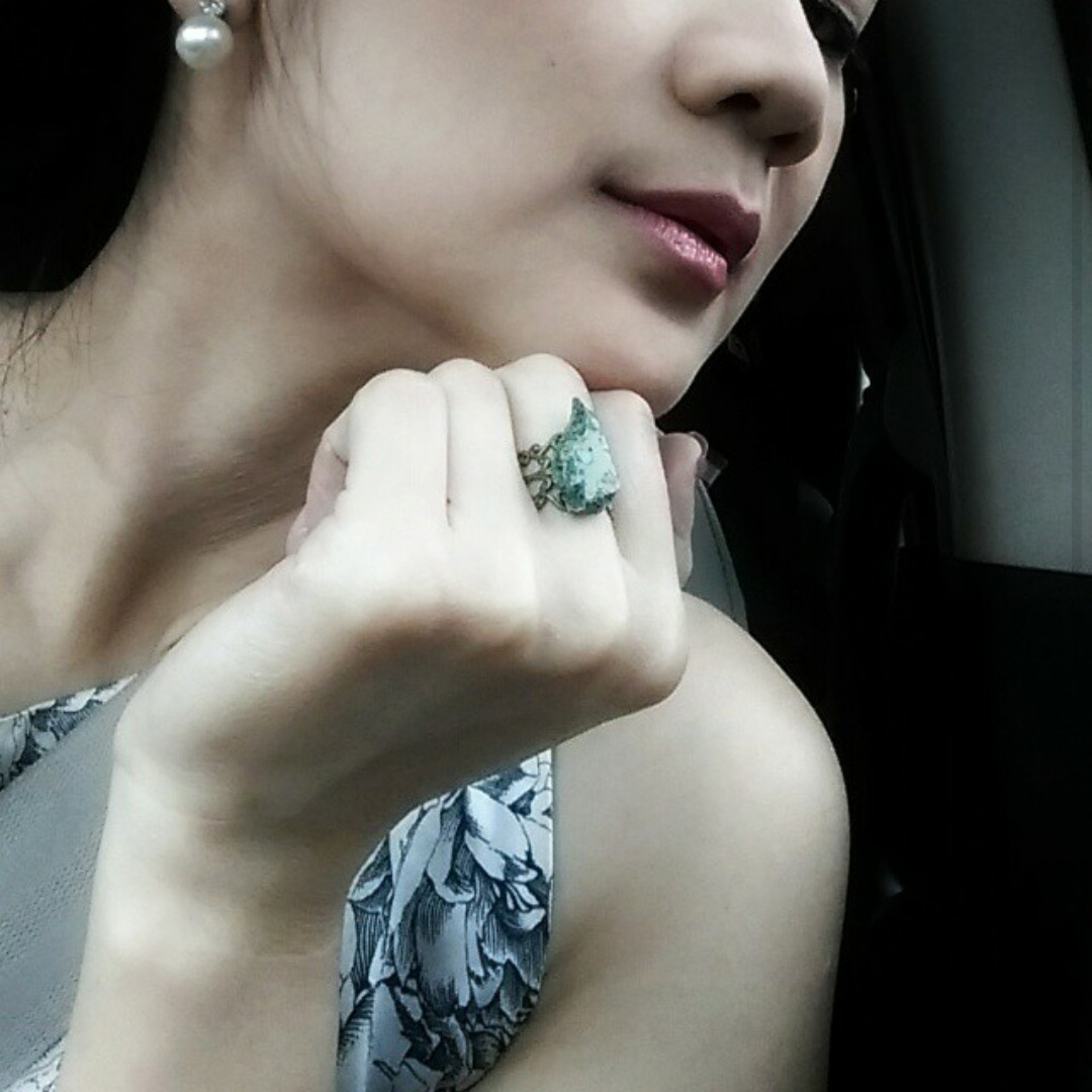 Love this mystic stone ring! Make me feel like Ia have powerful magic. It's unique and special. -Vena from Jakarta, Indonesia