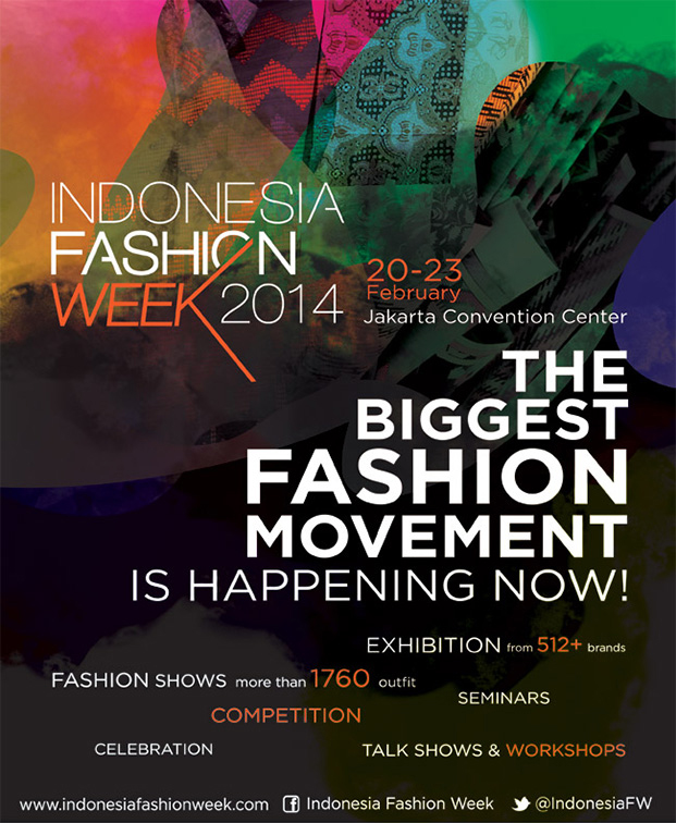 Indonesia Fashion Week 2014 - Venue: Jakarta Convention Center, IndonesiaDate: 20 - 23 February 2014Booth: AS-242