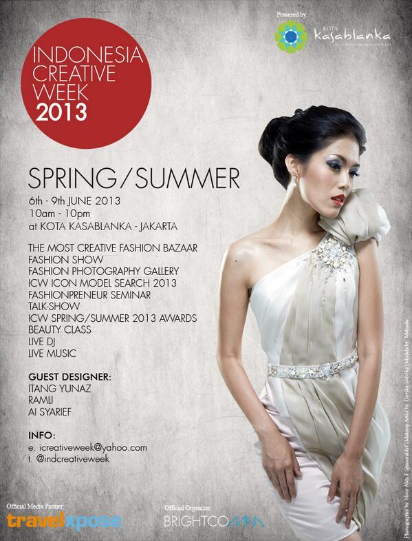 Indonesia Creative Week 2013 - Venue: Kota Kasablanka, Jakarta - IndonesiaDate: 6 - 9 June 2013