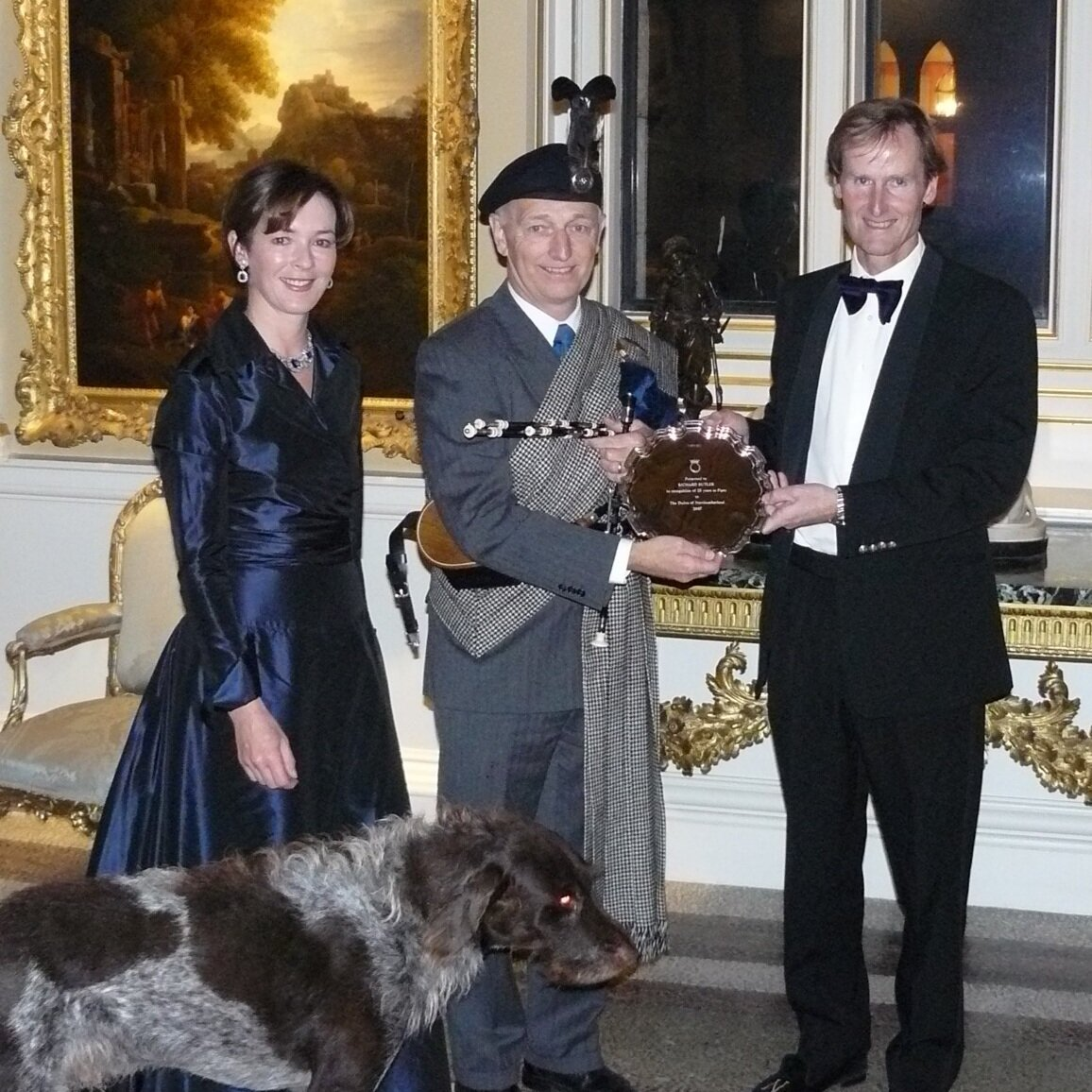 - Duke and Duchess of Northumberland presenting Richard Butler in 2007 with a silver plate marking 25 years of Richard's appointment as Piper to the Duke of Northumberland