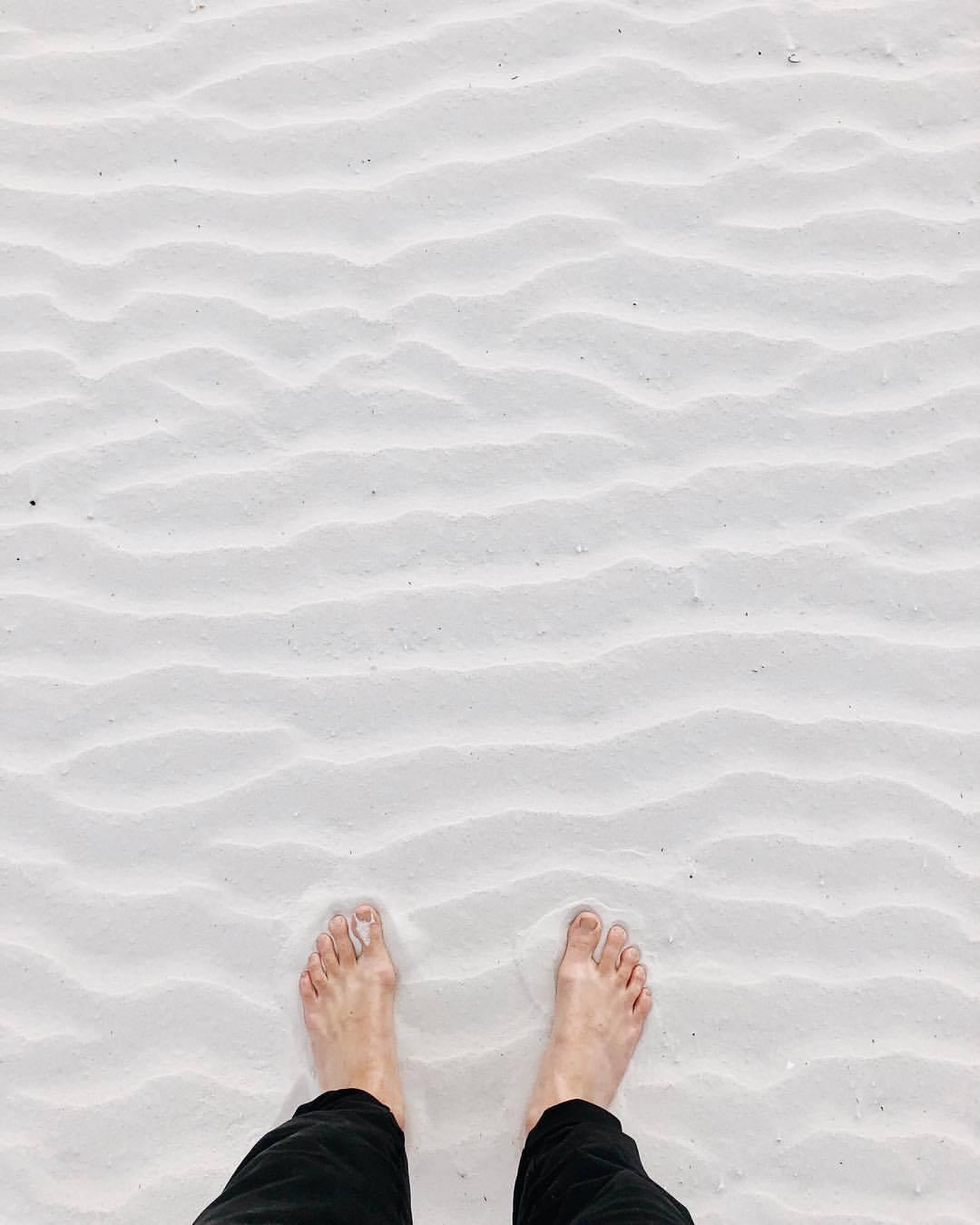 fresh powder (at Siesta Key Beach)