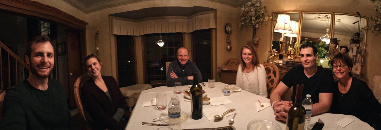 Customary Keeley family Thanksgiving selfie