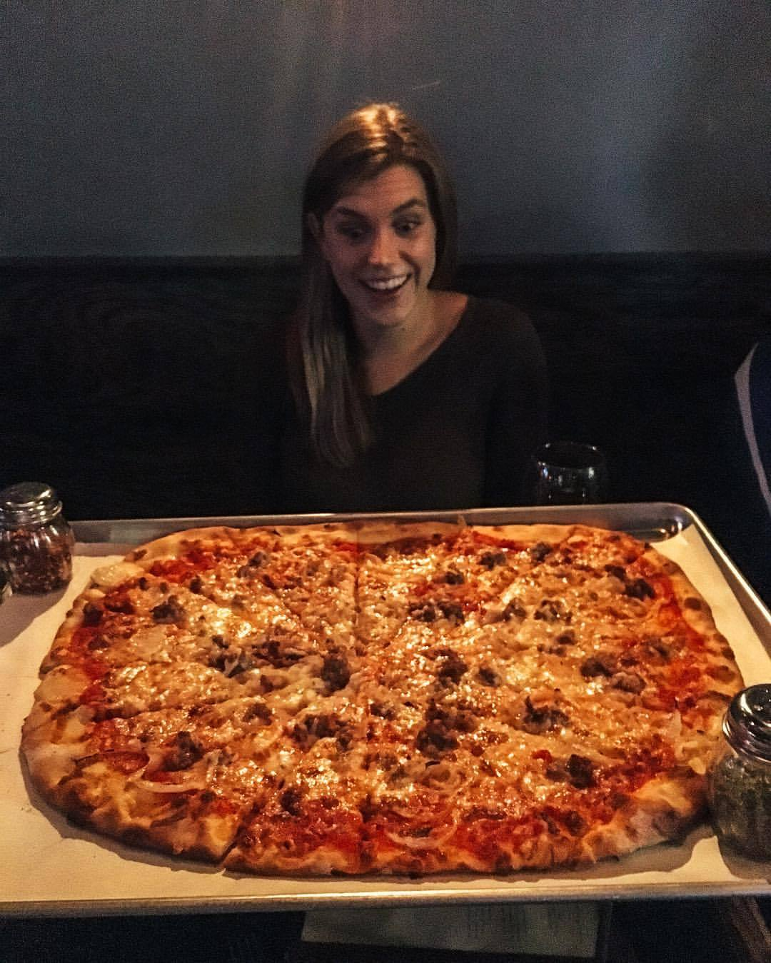 Just a girl and her pizza  (at Piece Pizzeria & Brewery)
