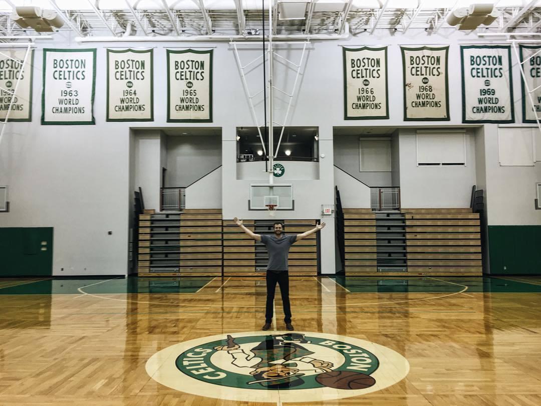 🍀🏀 (at Boston Celtics Practice Facility)