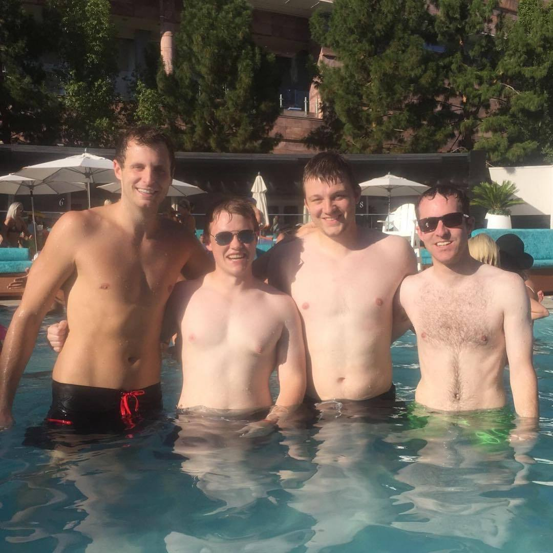 I tried all the filters and nothing is making @rjtowner tan #bachelorparty (at LIQUID Pool Lounge)