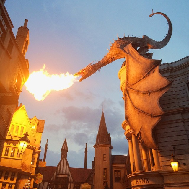 Here be dragons (at Diagon Alley)