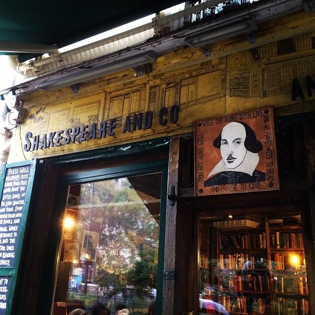 Hemingway's haunt  (at Shakespeare & Company)