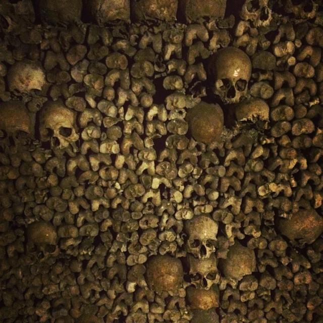 at Catacombes de Paris