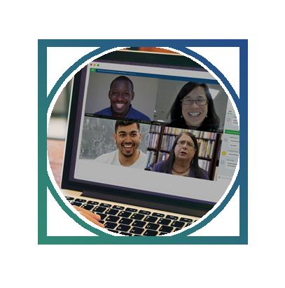 monthly virtual cohort meetings -