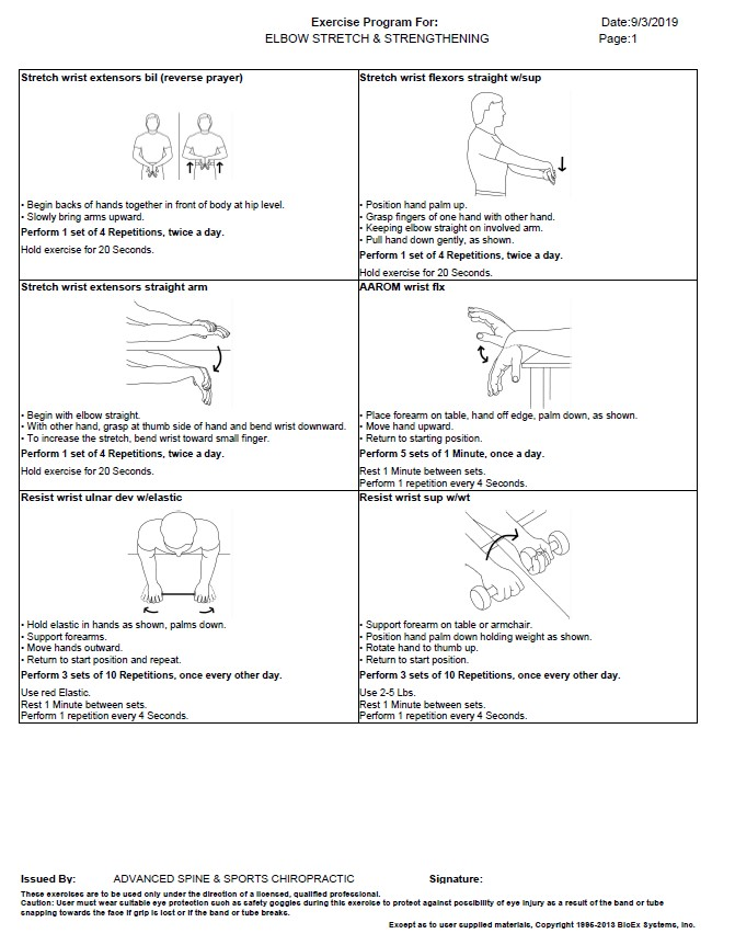Elbow Stretches & Strengthening