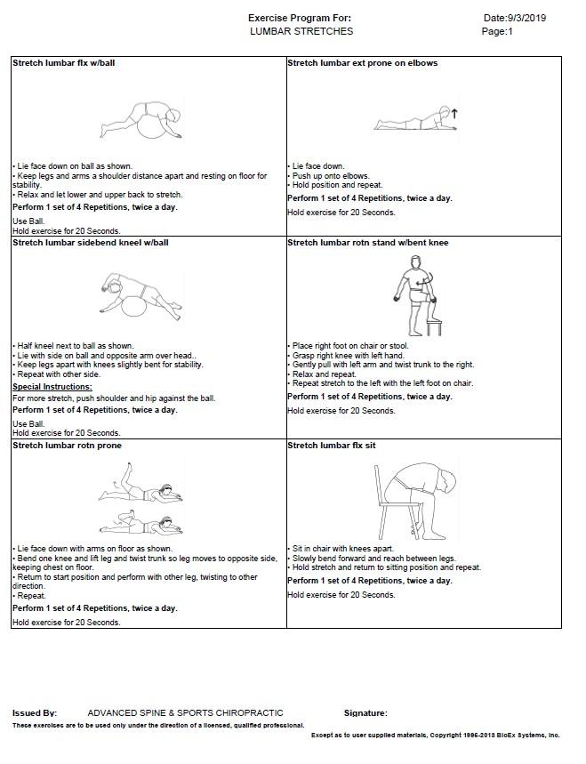 Lumbar Stretches