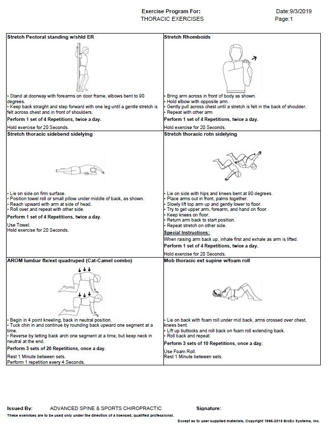 Thoracic Exercises