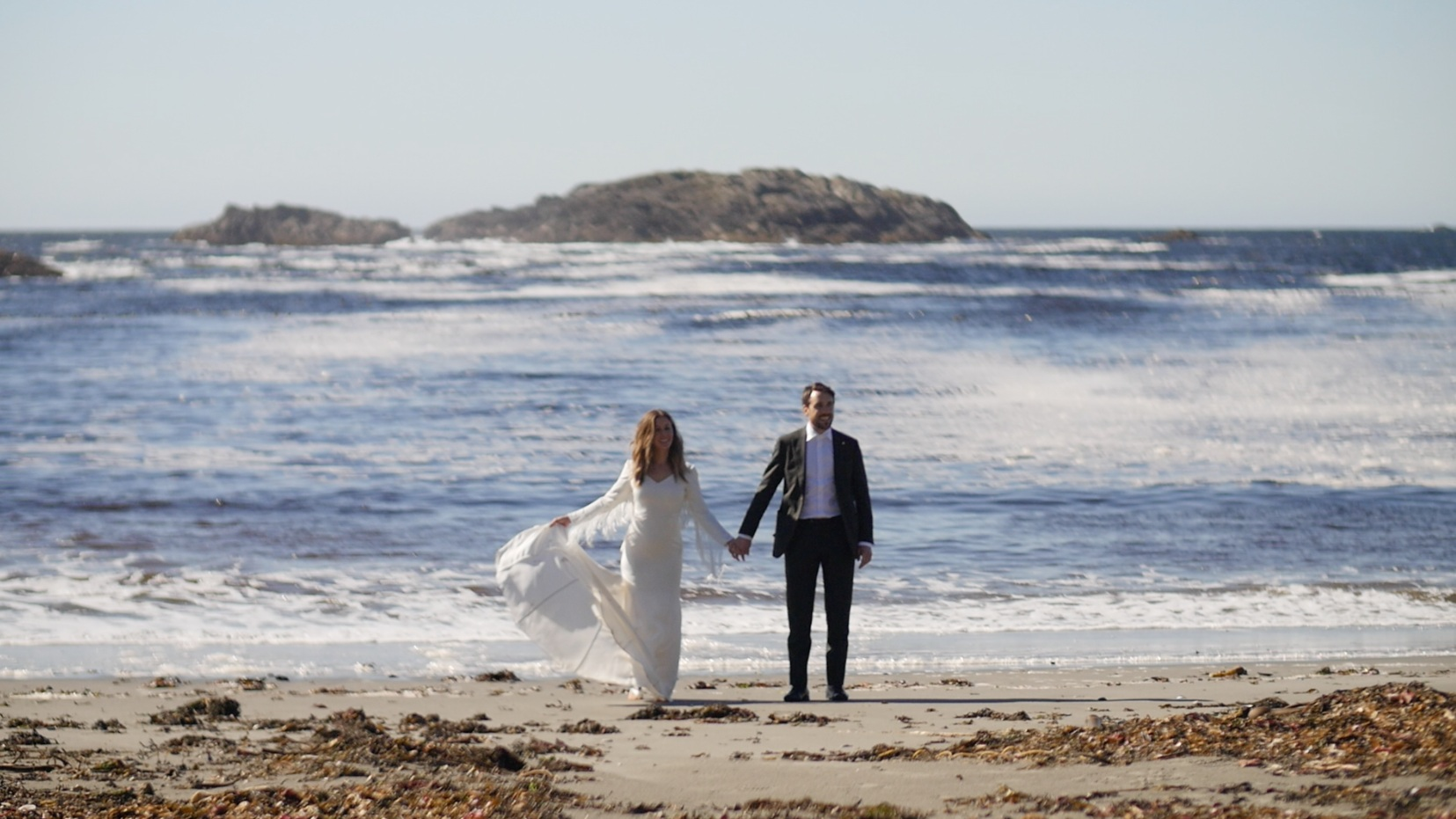 wya-point-elopement-on-the-beach - wedding video Evergreen & Bound Films