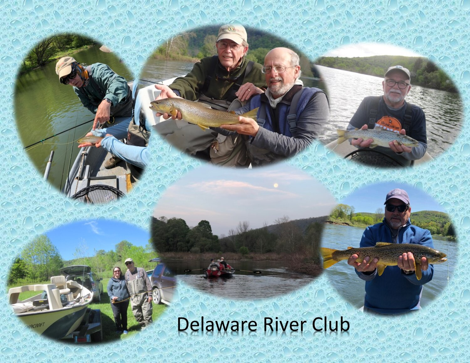Collage from 2019's Delaware River Club trip