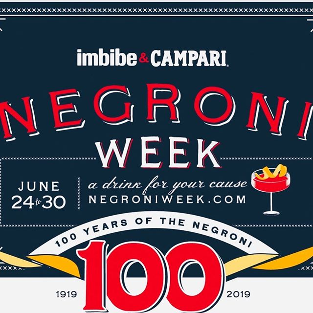 Join us for Negroni Week! Featuring a new creative Negroni every day this week! Our donation this year goes to USBG foundation Bartender Emergency Assistance Program #negroniweek #usbgchicago #imbibegram