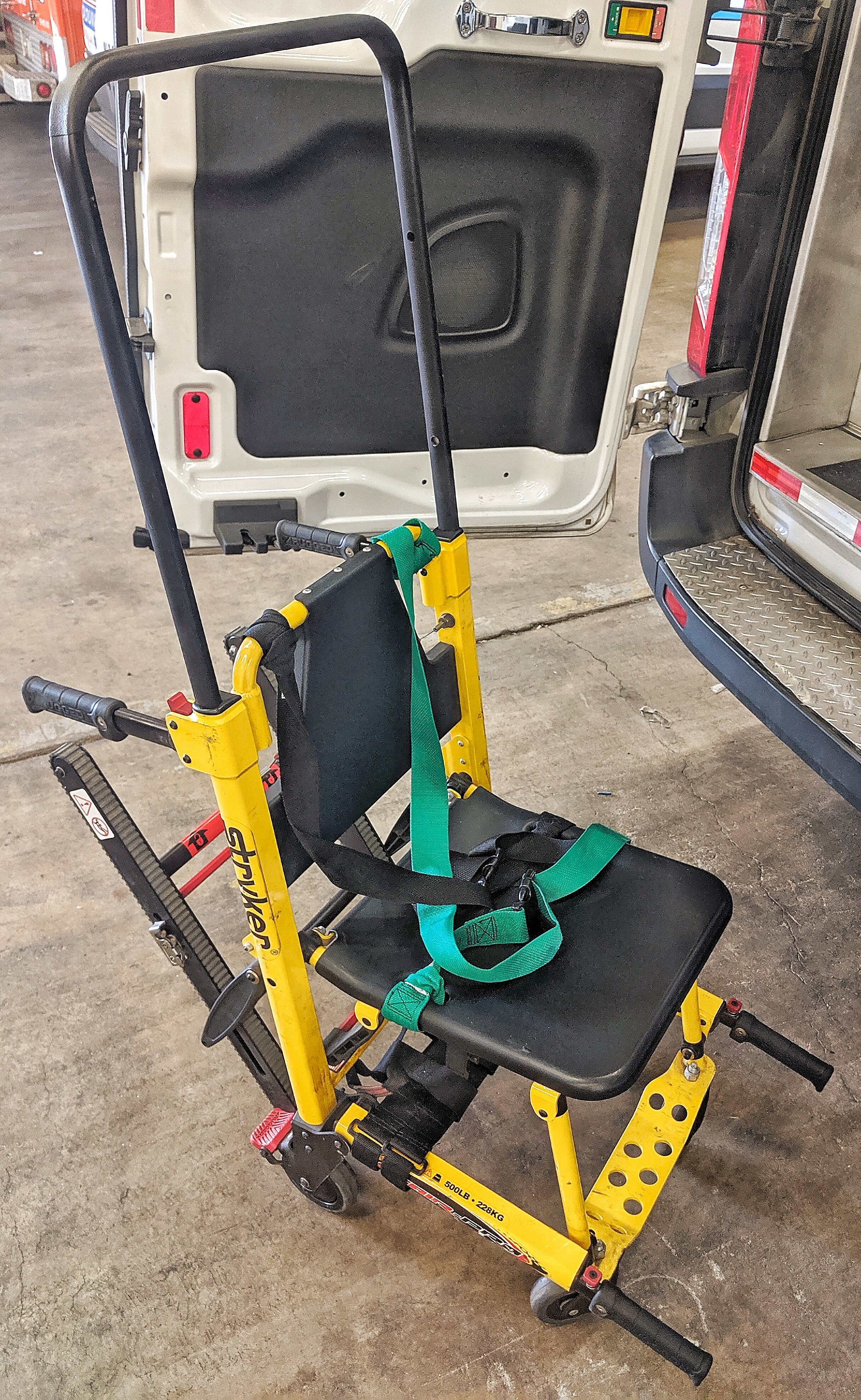 Stryker Stair Chair - Transport your patients up or down stairs with the easiest stair chair to operate.