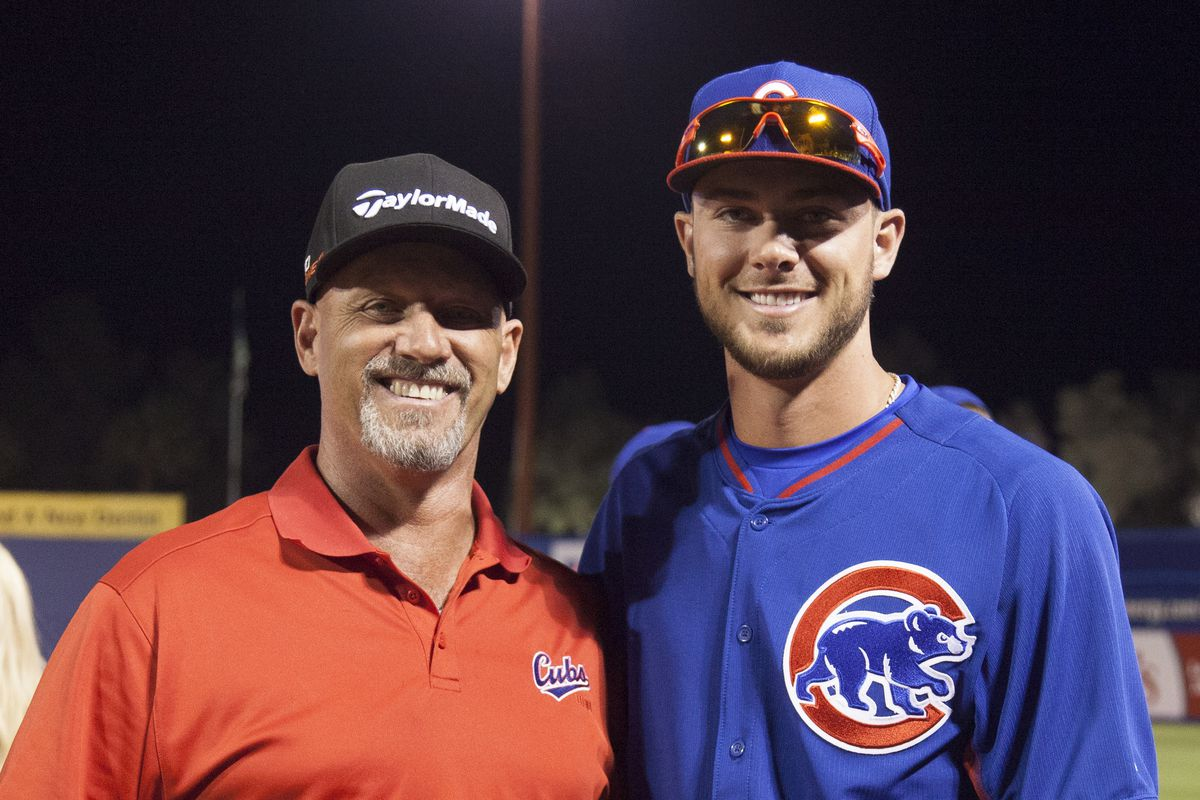 Mike Bryant (Former Boston Red Sox Player- whom Lee will be doing a Seminar with this year ), with son Kris Bryant (Chicago Cubs Player).