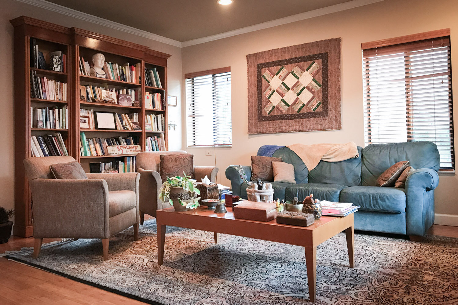 My Practice - Set in heart of Miami, my office welcomes you like your own living room. The space promotes a calm atmosphere and a safe environment for personal conversation.