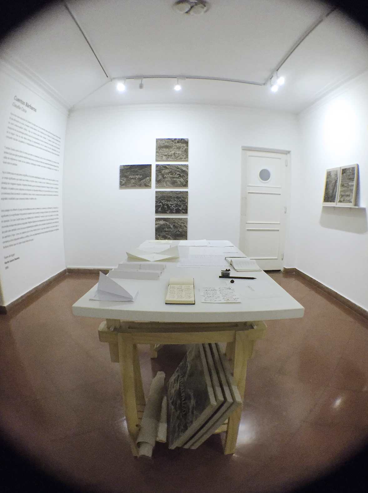 Vista de montaje e instalación.  Sala de Proyectos UNESPACIO.  2015