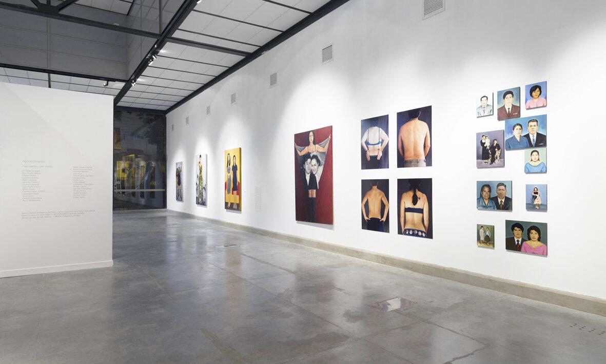 Vistas de la exposición Mestiza en el Museo de Arte Contemporáneo de Lima, 2014. Fotografías de sala por Juan Pablo Murrugarra.