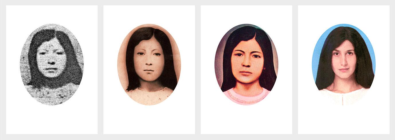 """""""Mejorando a Sarita"""" de la exposición  ¡Qué tal raza!  en Galería Forum, 2002."""