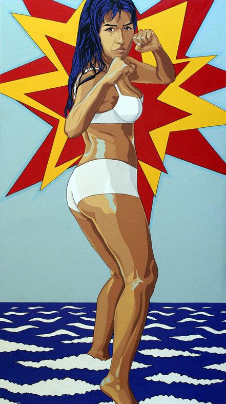 """Luchadora"" de la serie  Plebeya , 2005."