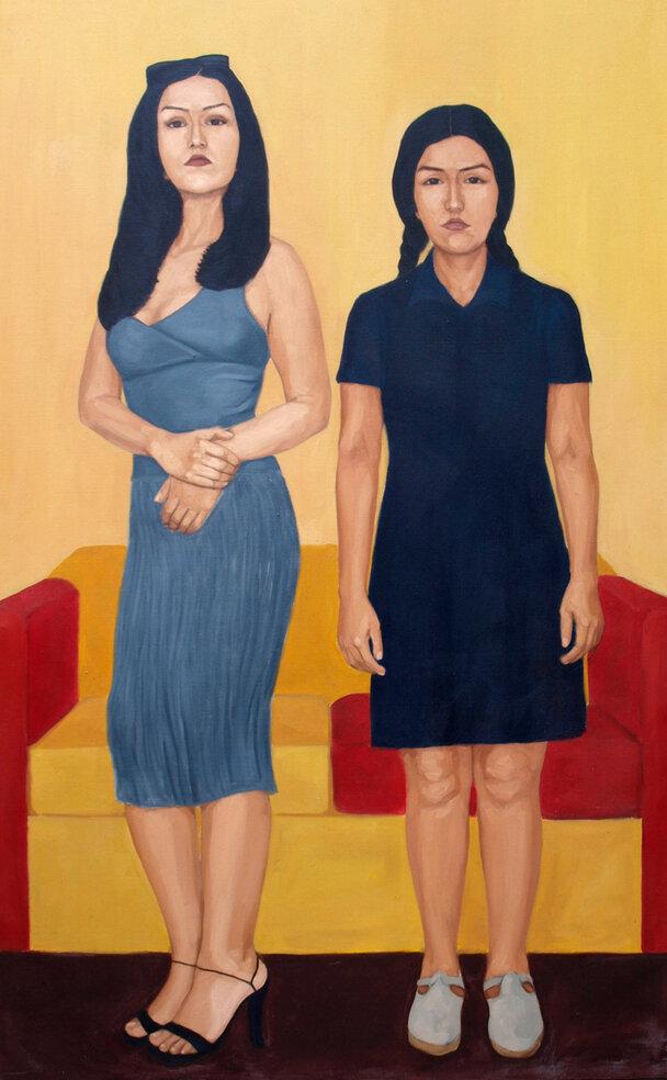 """""""La otra. Apres Iguiñiz"""" de la exposición  ¡Qué tal raza!  en Galería Forum, 2002."""
