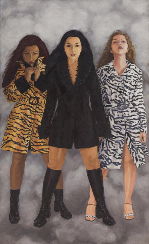 """""""Pieles"""" de la exposición  ¡Qué tal raza!  en Galería Forum, 2002."""