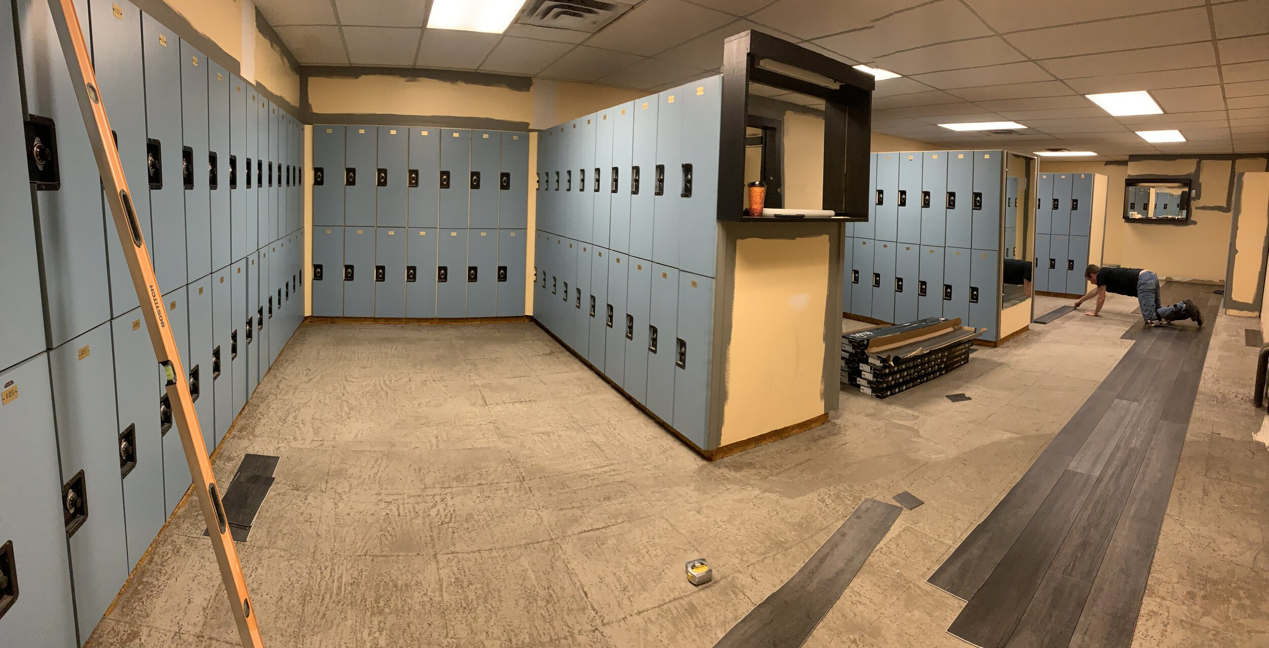 Mens' locker room - rear area