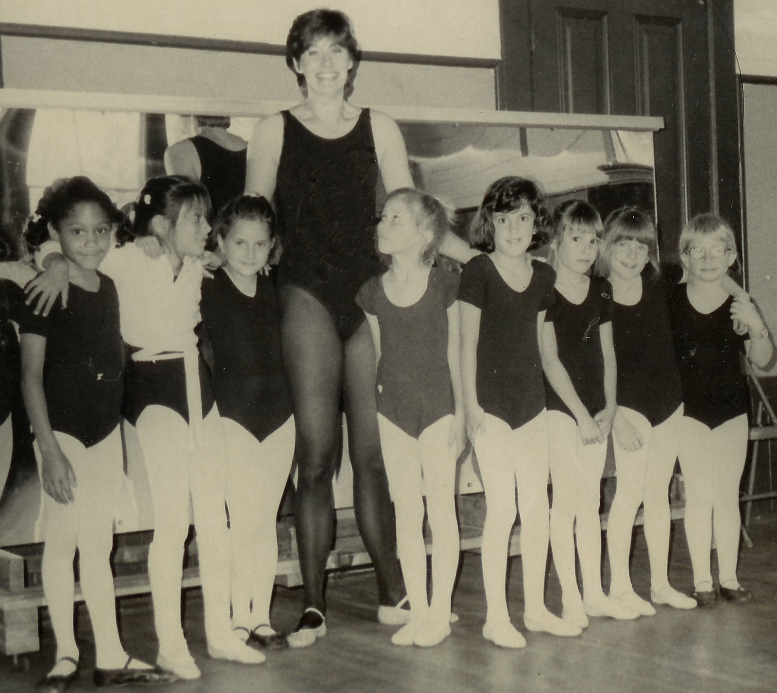 Founder Paula Valentine with her class, Morgan Hill Ballet Company 1977