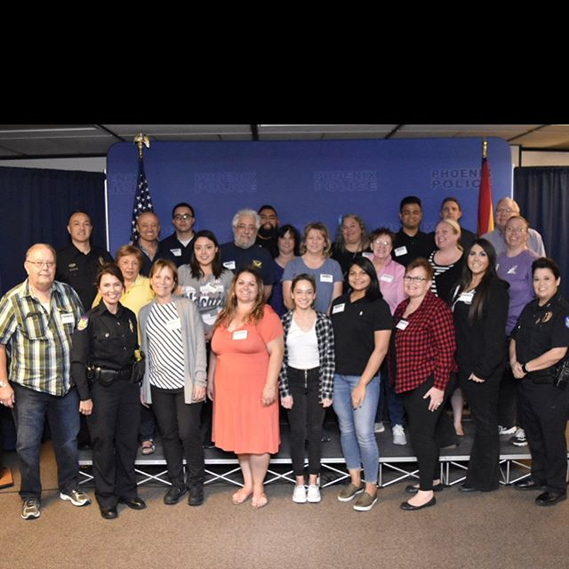 This beautiful group of Arizonans is our Class #92 of the Phoenix Citizen Police Academy. For the next six weeks on Thursday nights, they'll be learning about many aspects of the Phoenix Police Department. The crime lab, swat team, Bomb unit, divers, air rescue, shooting range, 911 communications and so much more!! Fun, informative and free.  Great way to learn about the community via the department.  Fill out your application at  Wesupportblue.org Email application to: Ppd.phoenixcitizenpoliceacademy@phoenix.gov *** Here is a list upcoming academies. Class #93 January 23 - February 27, 2020 Class #94 March 19 - April 23, 2020 (Spanish) Class #95 August 27 - October 1, 2020 Class #96 October 16 - November 19,2020
