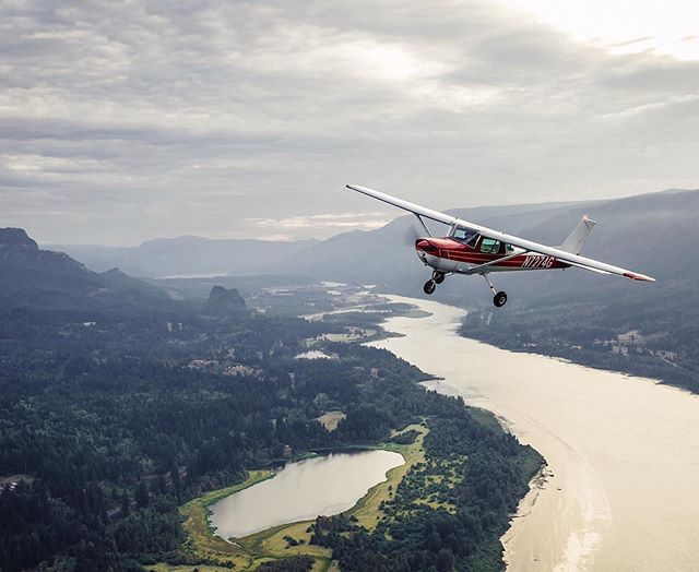 Flying over the Gorge never gets old.