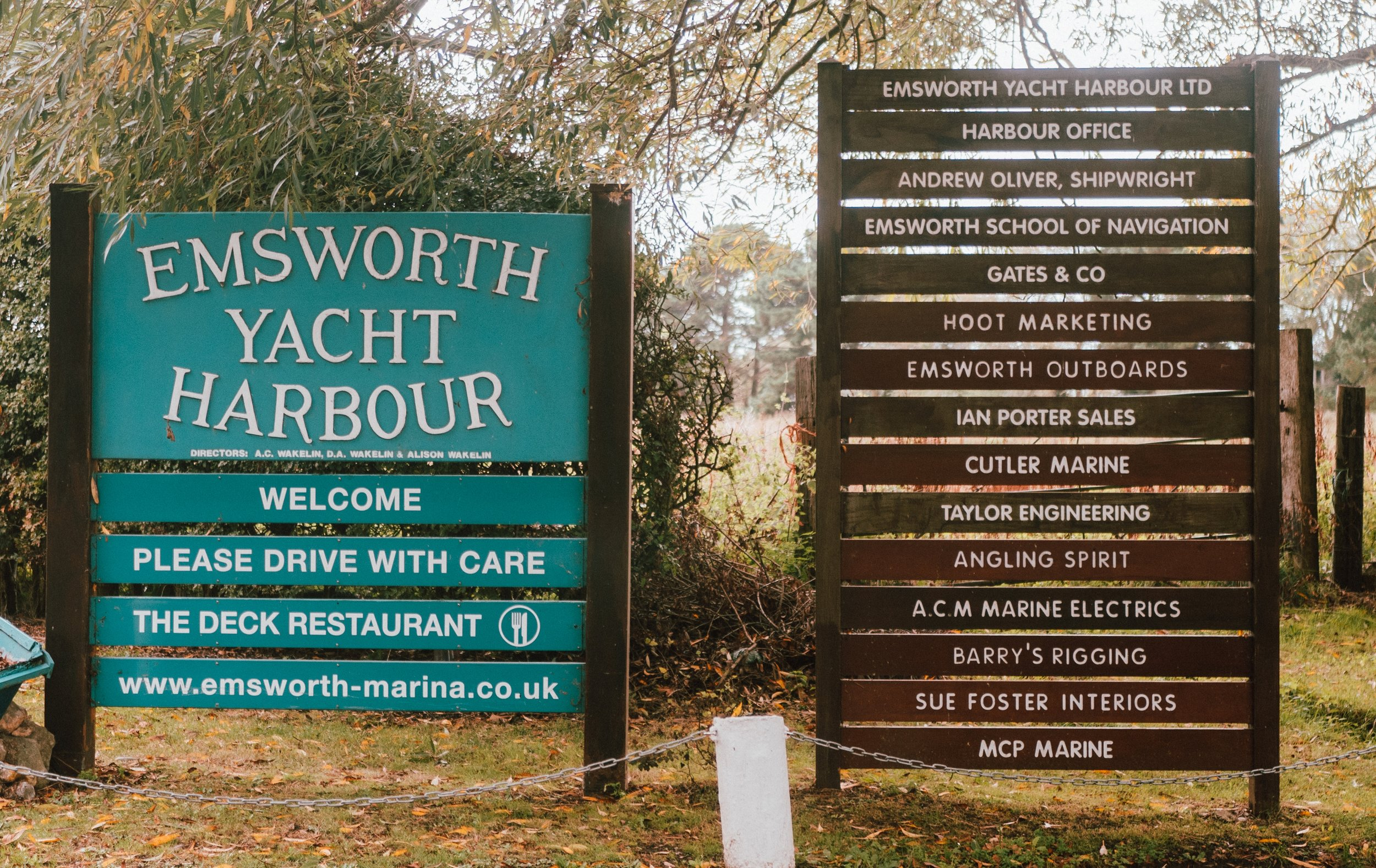 Convenient showroom located in Emsworth Yacht Harbour -