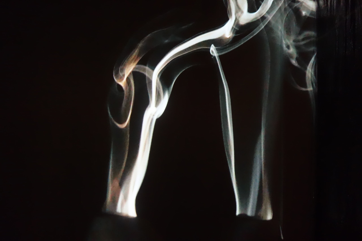 Image1  The Form of Scent  exhibited at Shoyeido Gallery, Kyoto (2019) - Swedish black granite, incense, video