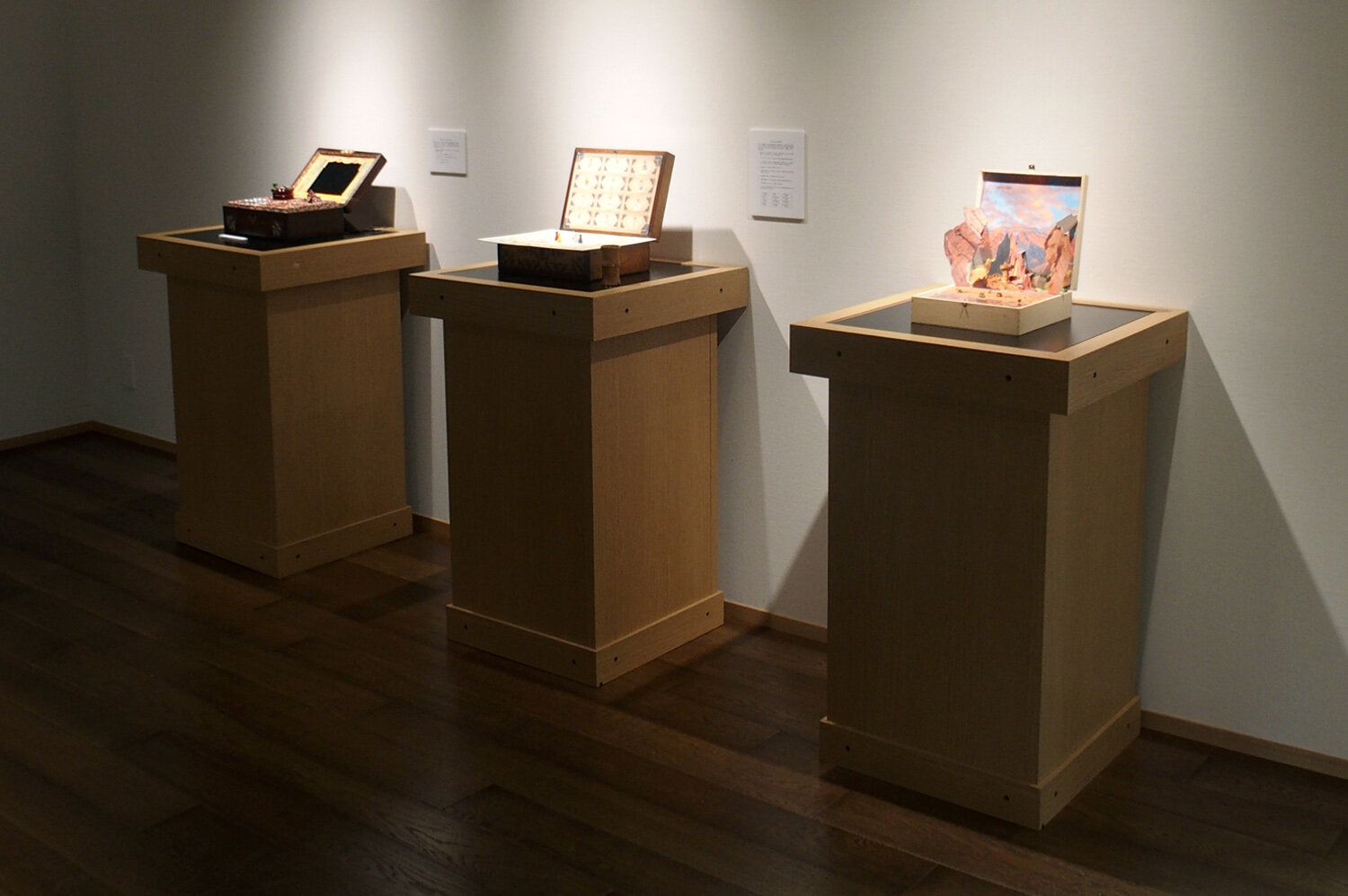 Shoyeido Gallery, Kyoto - installation including  Scentscape, Game Box and Memory Box