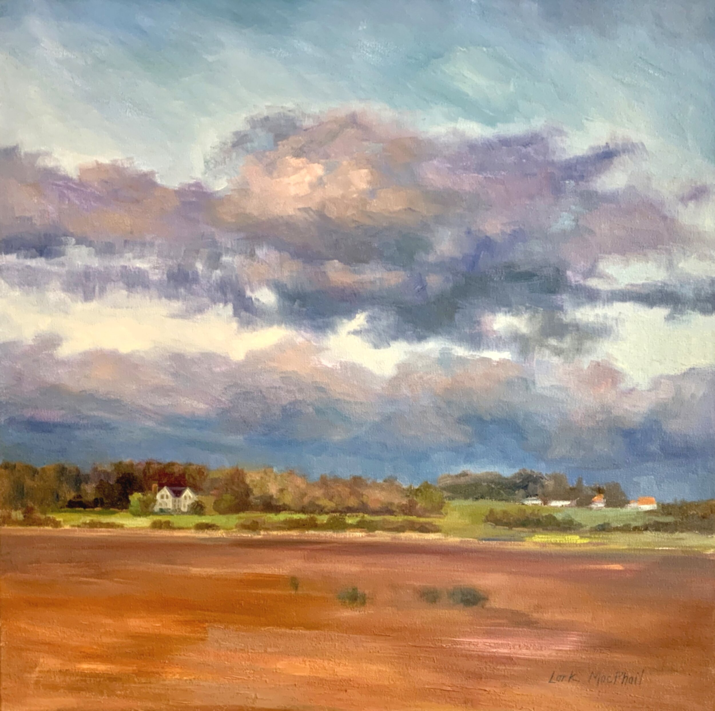 Clouds over Fields 30 x 30