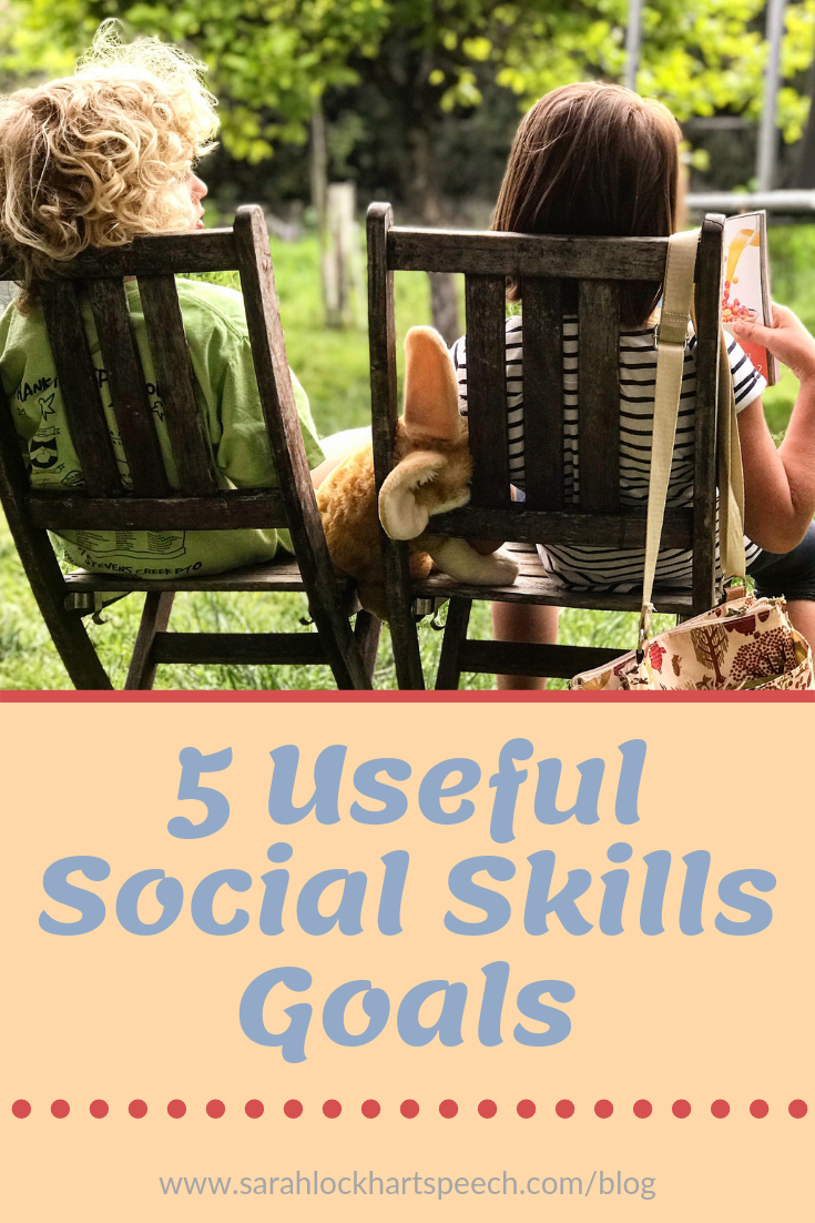 Are you an SLP looking for some new social skills goals? Want to mix up your social skills sessions and make it measurable? www.sarahlockhartspeech.com/blog/5socialgoals