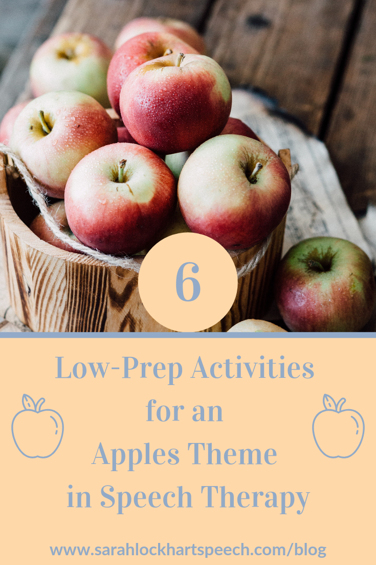 Looking for some easy and fun lessons for the fall? Look no further than this post, full of easy low-prep and no-prep ideas for an apples theme in speech therapy sessions.