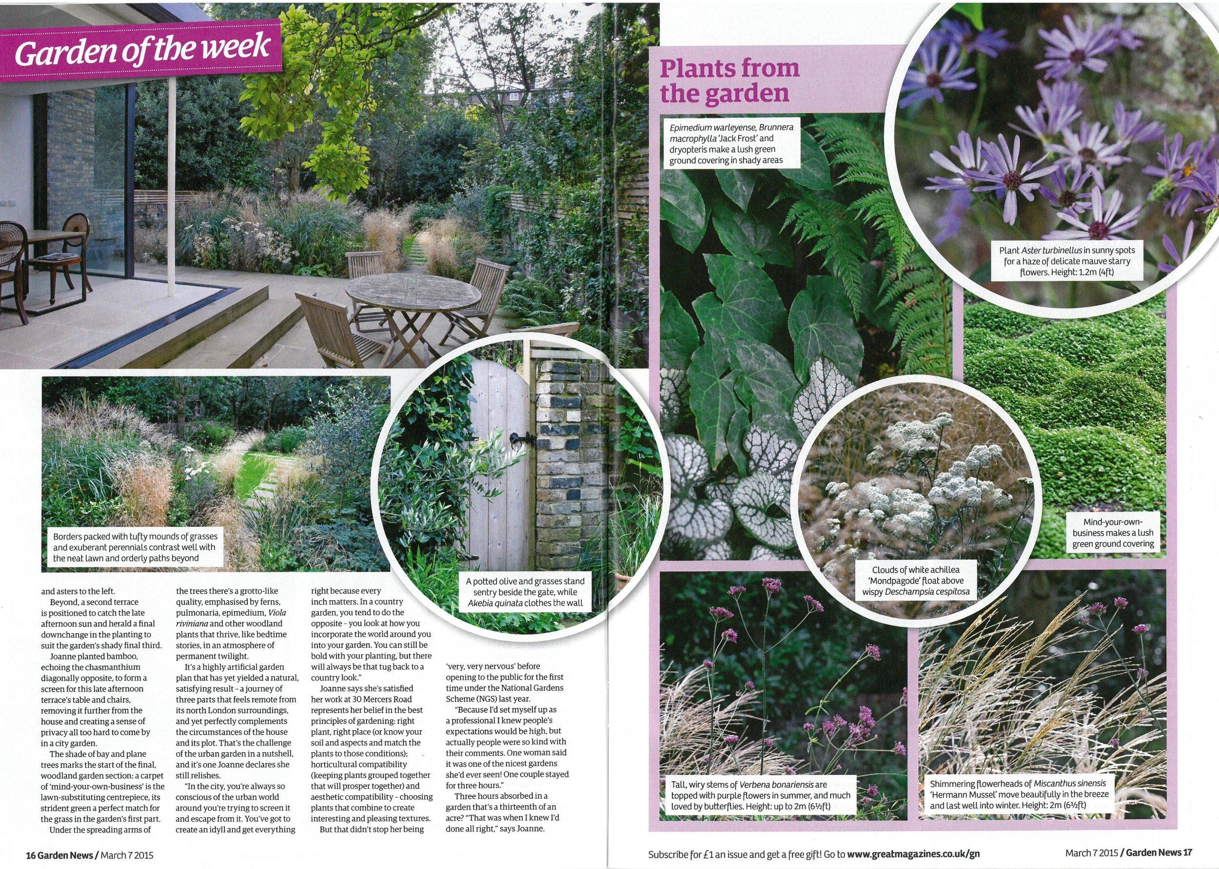 Garden News, March 2015