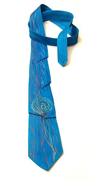 Tie made by Dušanka Herman, from  Salon Lina  in Ljubljana, Slovenia.