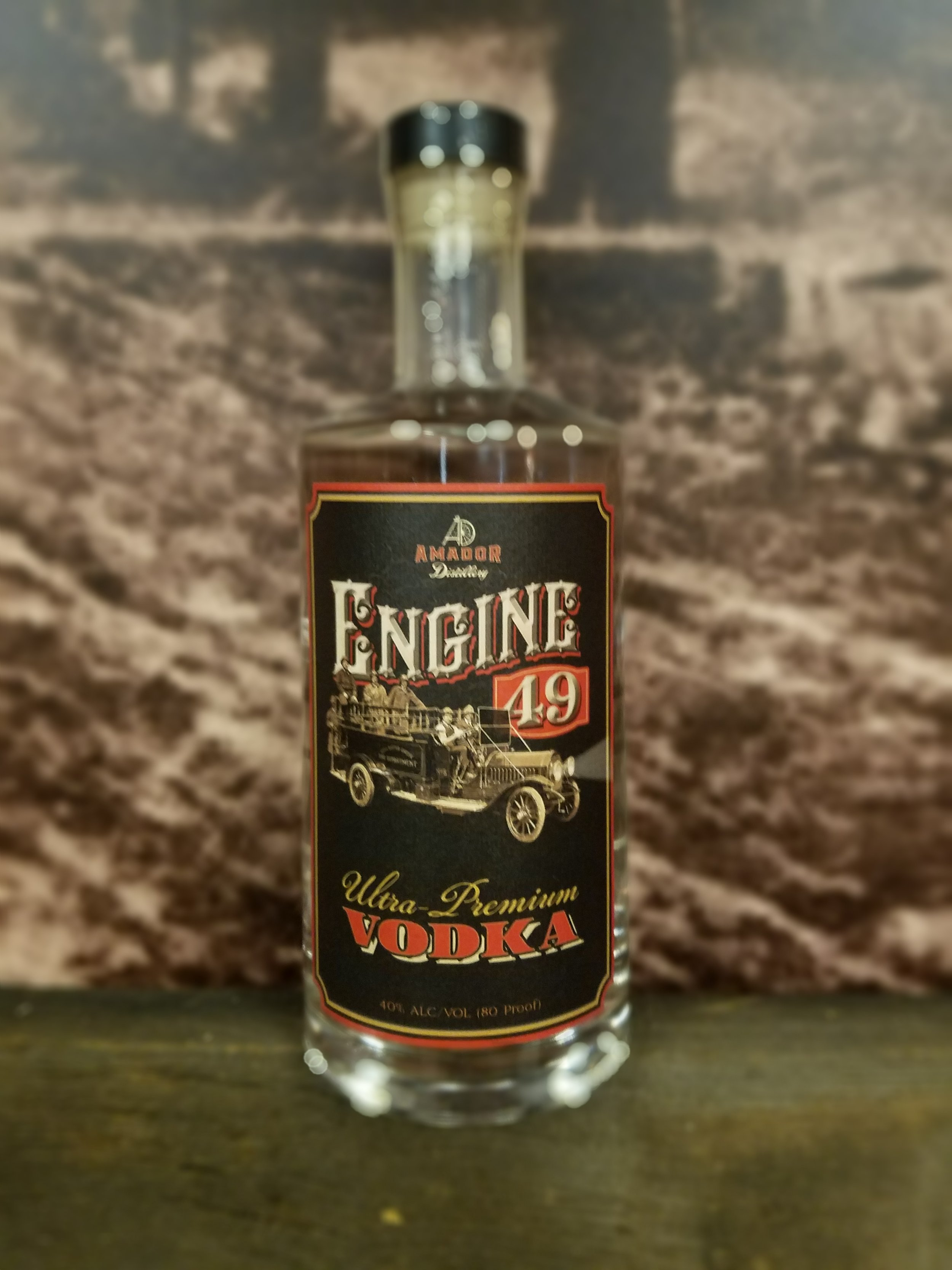 Engine 49 Vodka - This vodka is a straight grain mash bill that works great for cocktails. A straight forward clean 80 proof vodka makes amazing cocktails and works especially great Bloody Mary's.By using a wheat alcohol that is clean and smooth any vodka cocktail recipe will work with this bottle, as the clean crisp profile allows its flavor to shine without overpowering the other ingredients. A real team player for any bar.80 PF