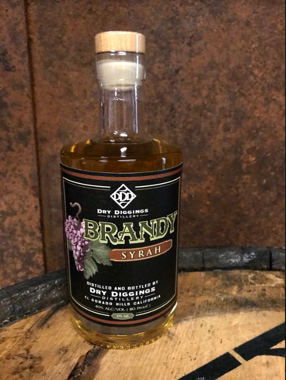 Syrah Brandy - We work with wineries from around the Sierra Foothills to make our Syrah Brandy.This brandy provides the melon, pomegranate and and berry notes of the wine balanced by a lightly oaked profile.We consider this to be one of our more traditional brandies but with a more approachable profile.Great for new spirit sippers and complex enough for seasoned pros to kick back with. Our Syrah Brandy is easily sipped neat, ice, or blended into a cocktail.80 PF