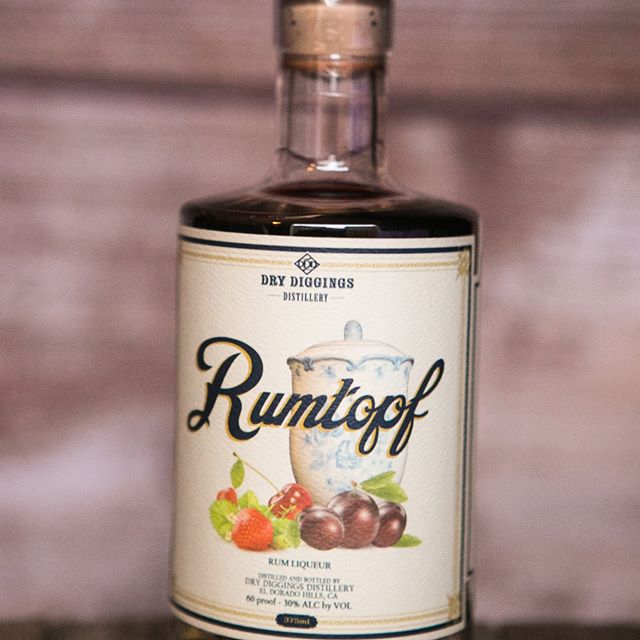 Rumtopf Liqueur - This product is made from a family recipe, brought over from Germany. We steep local fresh fruit in our Engine 49 Light Rum for over a year to produce a naturally sweetened liqueur.60PF