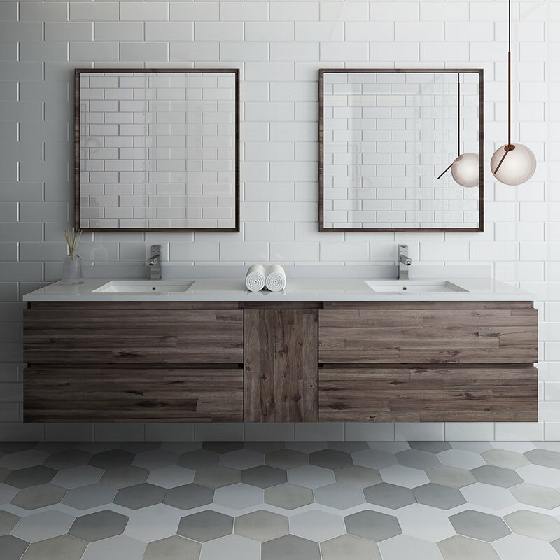 Double sinks - if space allows, having double sinks is definitely worth investing in. That way you're not constantly waiting for your other half to finish shaving/cleaning their teeth etc in the morning and you won't be getting in each other's way!