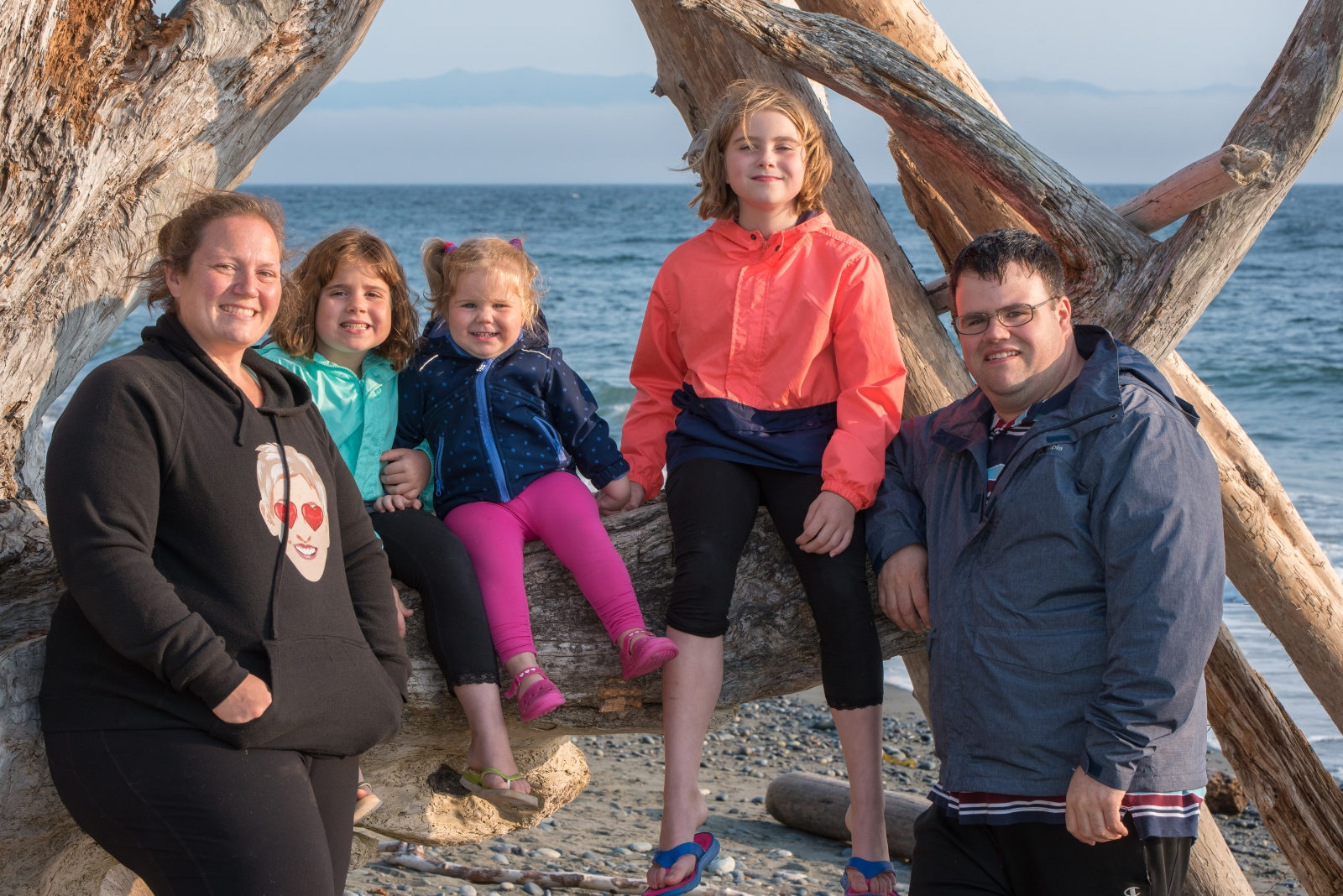 Our family on Vancouver Island, 2018