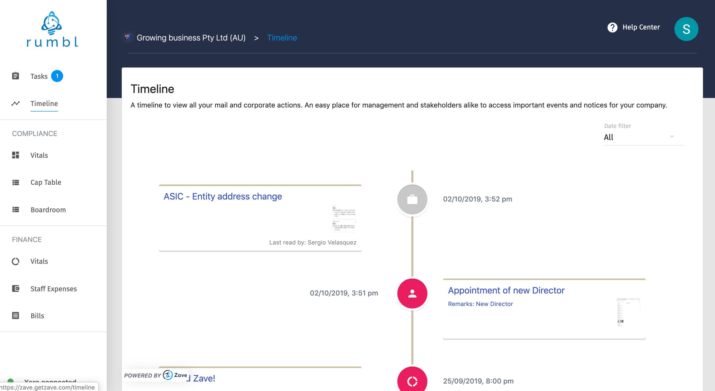 Track key business documents