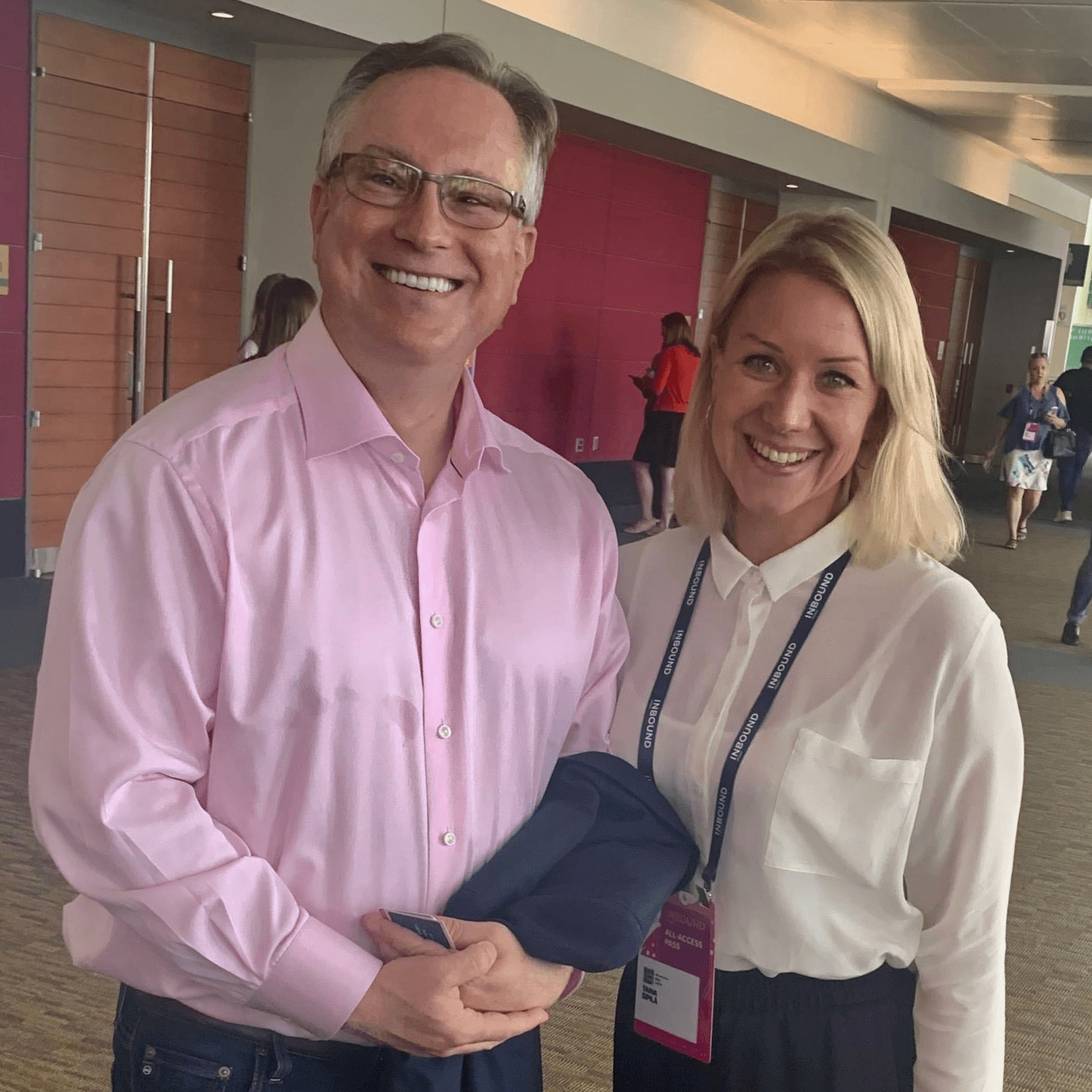 Scott Brinker, VP Platform Ecosystems HubSpot and Taina Sipila, Founder and CEO of Dear Lucy at INBOUND 19 congress in Boston.