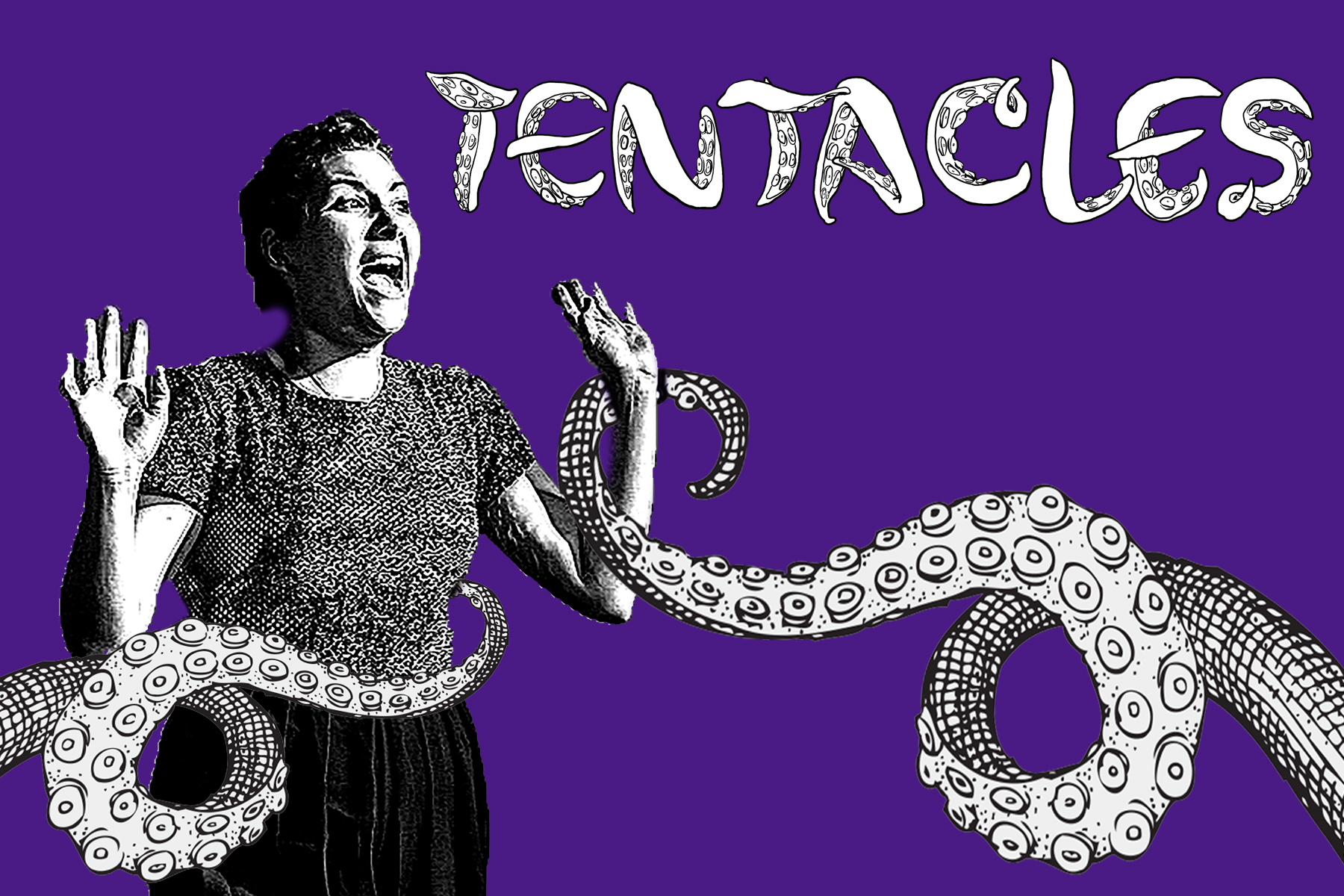 TENTACLES - TENTACLES - developed from 2017-2019. Directed by Rebecca Cunningham, Written/Performed by Tessa Flannery.Developed at the PIT and Magnet Theater. Festivals: FRIGID 2018, Estrogenius 2018, Pittsburgh Fringe 2018, APAP 2019. Awards: Best Multimedia, Estrogenius Award, Staff Favorite (FRIGID NY), Best Writing (Pittsburgh Fringe).To inquire about touring, or to learn more, visit Tentacles The Show. Image text by Dennis Pacheco.