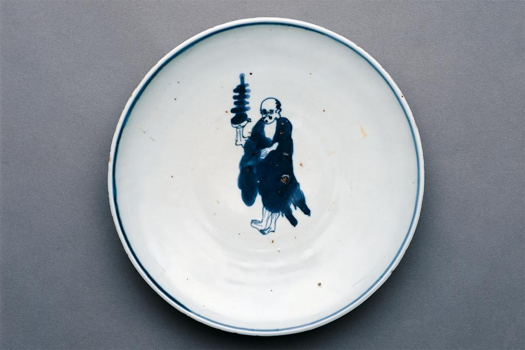 Ming dynasty blue and white porcelain plate for confectionary to accompany tea.  Made in China for export to Japan.  Asia Society Museum